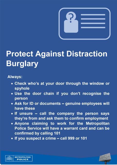 Distraction burglary advice sheet