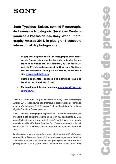 Communiqué de presse_Sony_SWPA 2015_Questions Contemporaines_150424_F-CH