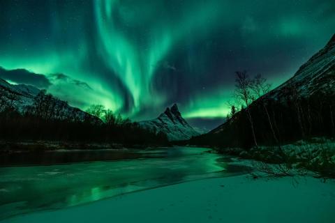Licht op het Noordpoolgebied