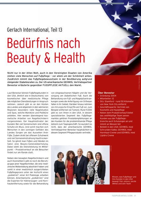 Gerlach in den USA: Bedürfnis nach Beauty & Health