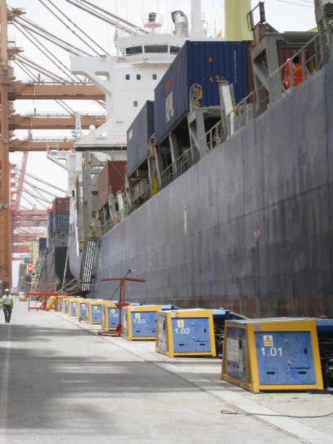 Image of Cavotec MoorMaster™ MM200C units at the Port of Salalah, Oman
