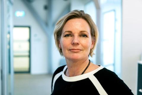 Cathrine Barth er klar for å presentere sirkulære byggeklosser på Det Norske Byggemøtet