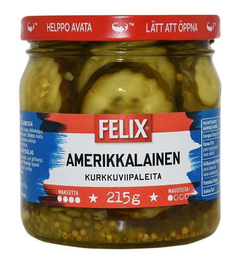 Takaisinveto: Felix Amerikkalainen kurkkuviipale 215 g -tuotteessa todettu vierasesine