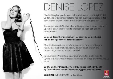 Denise Lopez gäster Charlie and Friends på Clarion Hotel Stockholm
