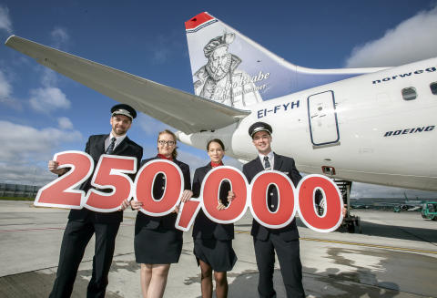 Norwegian soars to 250,000 passengers on flights from U.S. to Dublin