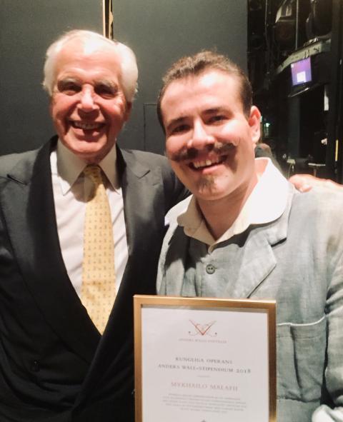 Kungliga Operans Anders Wall-stipendium 2018 till ukrainsk tenor