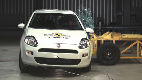 FIAT Punto side crash test Dec 2017