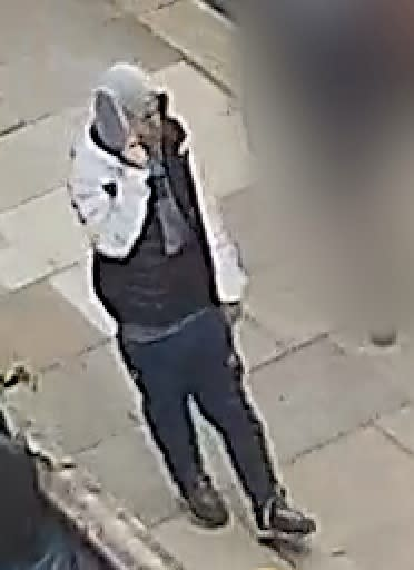 CCTV image of male police need to identify