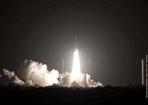 EUTELSAT 65 West A satellite speeds into space
