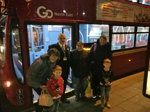 Go North East Christmas bus