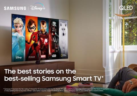 Disney+ kommer til Samsungs Smart TV i Norden