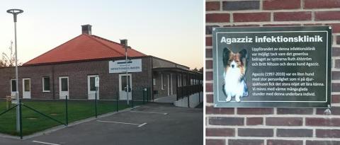 Hunden Agazzis ger namn åt ny avdelning på Evidensia Djursjukhuset Helsingborg