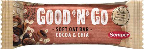 Good'n'Go Soft Oat bar Cocoa Chia
