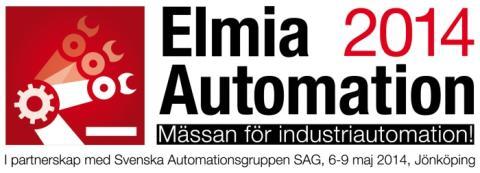 Elmia Automation, 6-9 maj 2014
