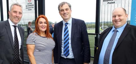 Secretary of State for Northern Ireland invited back to Mid and East Antrim after SuperCup visit