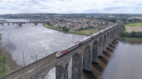 Azuma on Royal Border Bridge Berwick
