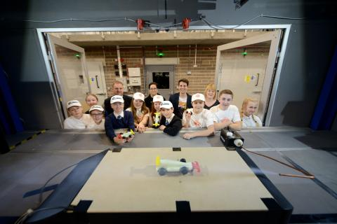 Pupils' car designs on track following Northumbria visit