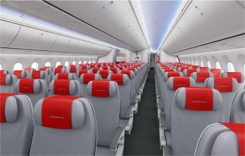 Norwegian Dreamlinerin matkustamo