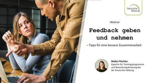 Webinar: Feedback geben und nehmen - Tipps für eine bessere Zusammenarbeit