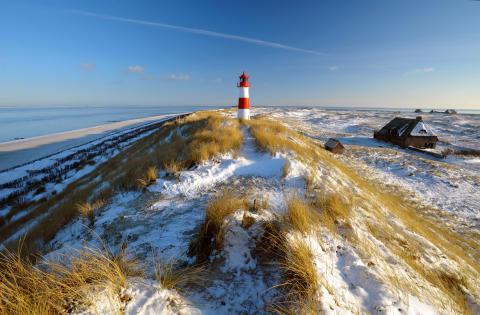 Leuchtturm am Ellenbogen im Winter