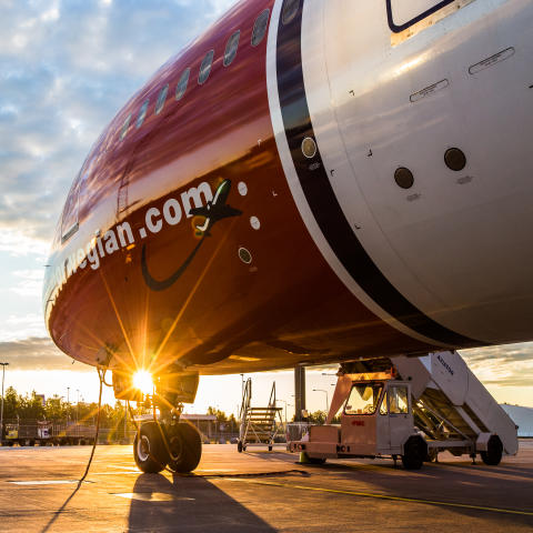 Norwegian Dreamliner at Sunrise