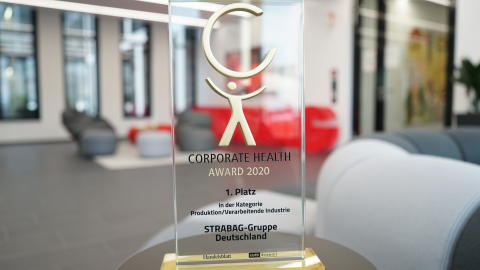 Corporate Health Award 2020 geht an STRABAG