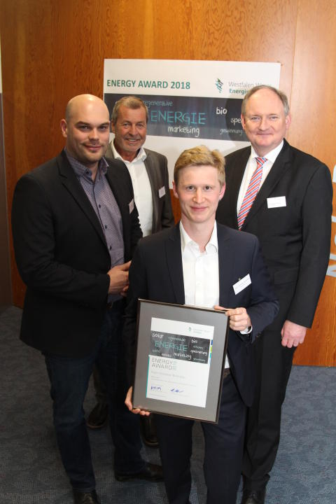 Jungakademiker Fynn Christian Bollhöfer von der Hochschule Ostwestfalen Lippe Lemgo erhält Energy Award 2018