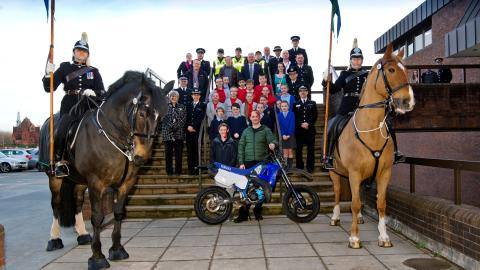 WATCH: Video of prize-giving event at Police HQ rewarding Sefton schoolchildren's anti-scrambler bike project