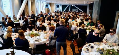 Scandic Hotels arranges world's biggest blind lunch at a hotel