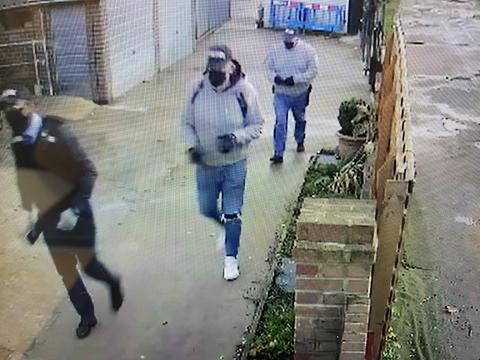 An image of three suspects police wish to identify