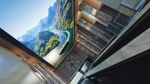 ​Hurtigruten elevates the guest experience to a new level - introducing the tallest screen at sea