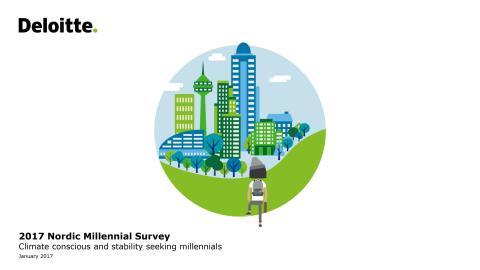 2017 Nordic Millennial Survey