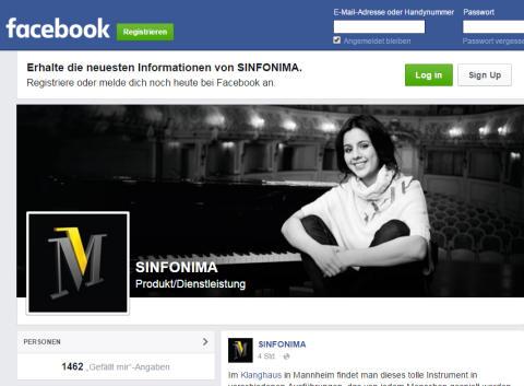 Da ist Musik drin: SINFONIMA mit eigener Facebook-Fanpage