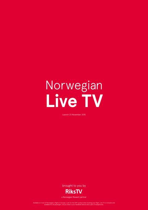 Lisätietoja Norwegianin Live TV:stä