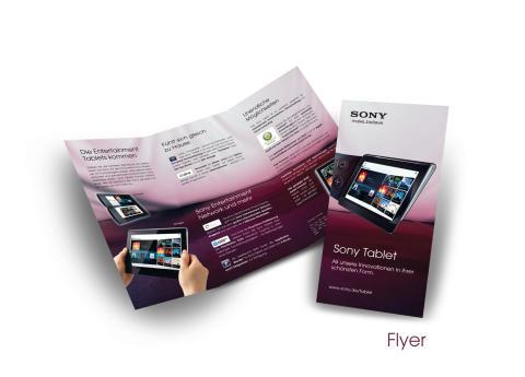 Sony Tablet Kampagne_Broschüre
