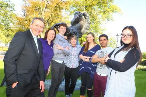 Northumbria students head for Newcastle Race Course to take a lead in the career stakes