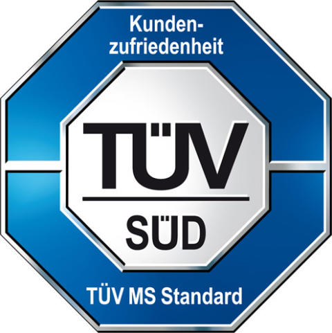 """TÜV-Siegel für """"Geprüfte Kundenzufriedenheit"""""""