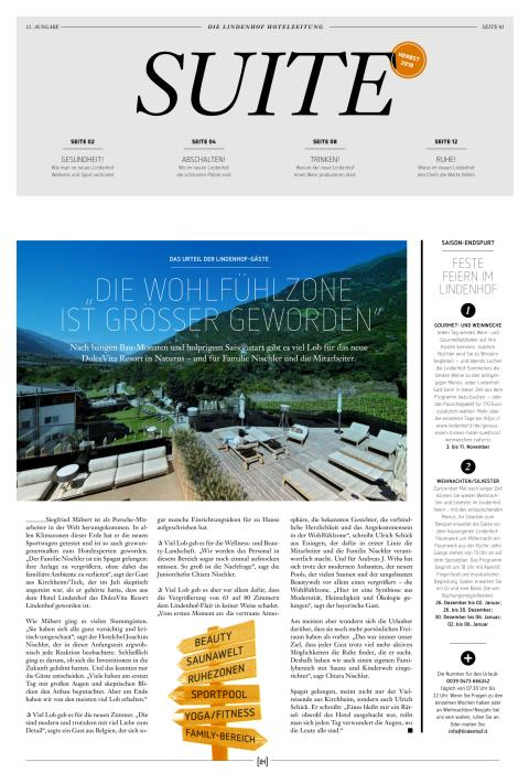 DolceVita Resort Lindenhof SUITE Herbst 2018