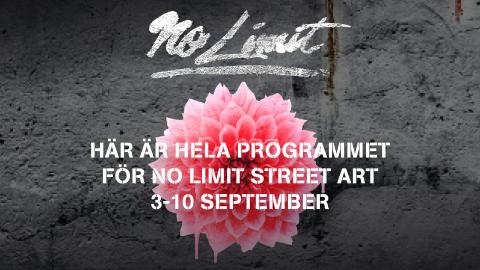Fler än 150 programpunkter under No Limit Street Art