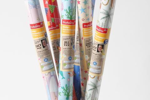 Profissimo Kindergeschenkpapier aus 100% Recyclingmaterial