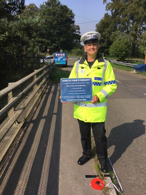 Police support Brake in raising awareness to drivers about the importance for having regular eyesight tests