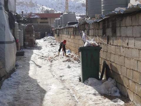 COLD SNAP HITS LEBANON; CONDITIONS WORSEN FOR SYRIAN REFUGEES