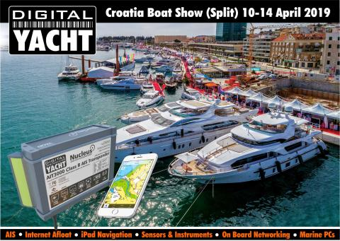 Digital Yacht at Croatia Boat Show - Split 10 to 14 April