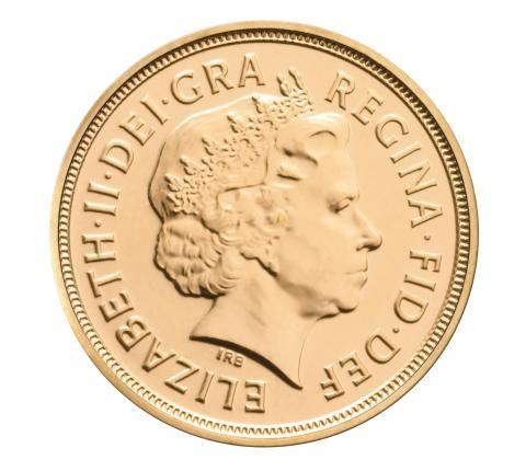 2012 Sovereign, gull, Dronning Elisabeth