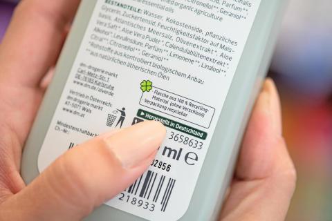 Recyclingverpackungen bei dm