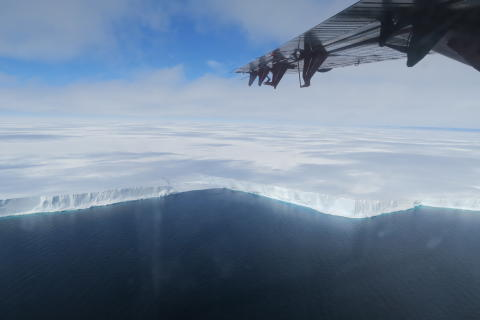 The edge of the Brunt Ice Shelf (credit:Jan De Rydt)