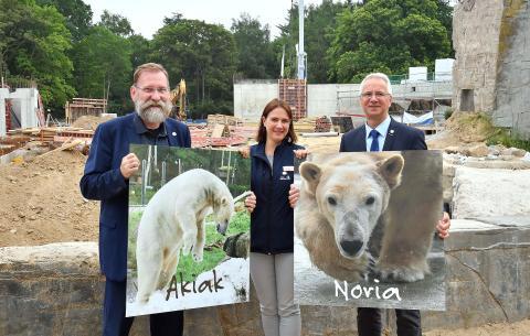 Akiak und Noria - ein sanfter Riese mit Rostocker Wurzeln und eine neugierige Entdeckerin