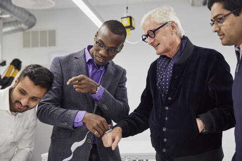 James Dyson with sKan team