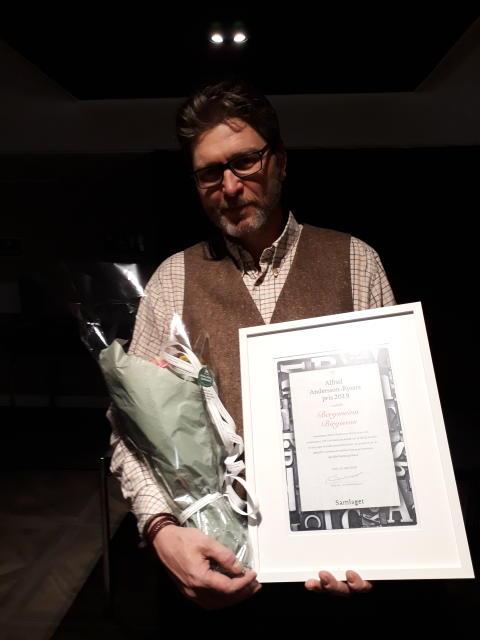 Sokneprest Andersson-Ryssts pris går til den islandske forfattaren Bergsveinn Birgisson.
