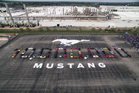 Historisk milstolpe för Ford Mustang – 10 miljoner tillverkade